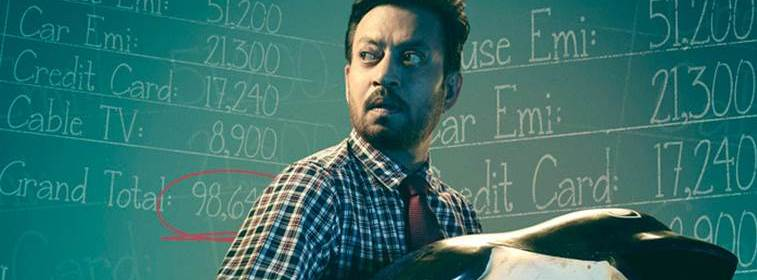 Blackmail Irrfan Khan carrying a dust bin