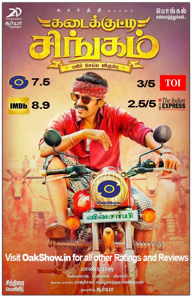 Kadaikutty Singam every reviews and ratings
