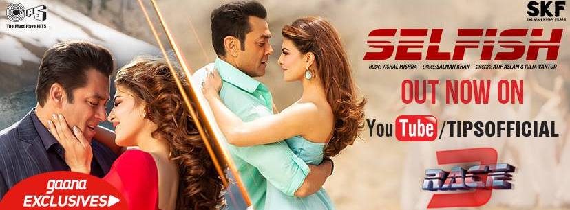 Race 3 Hot Jaquiline and Salman poster