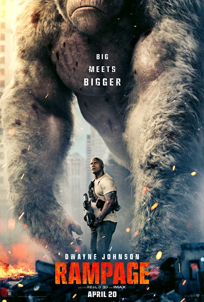 Rampage is related to Pacific Rim Uprising in Moster Genre