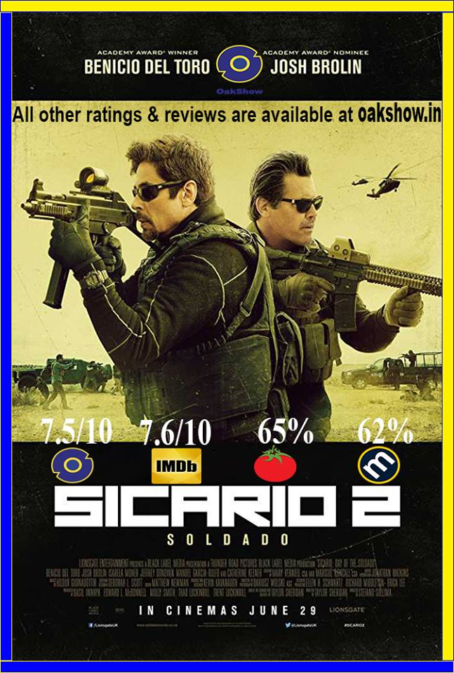 Sicario: Day of the Soldado every reviews and ratings