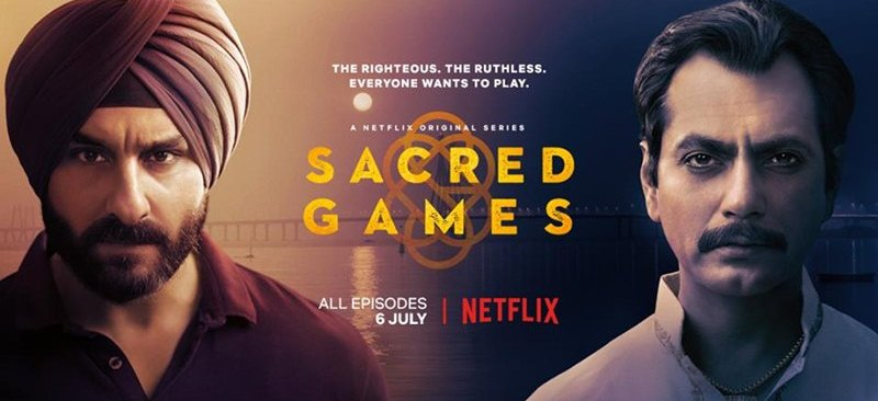 Saif Ali Khan and Nawazuddin Siddiqui in Sacred Games Poster Reveiws and Ratings